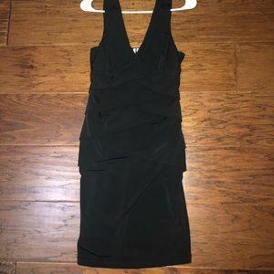 Women's sleeveless black dress
